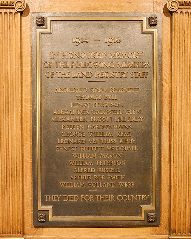 Land Registry memorial
