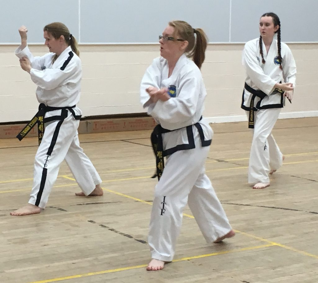Kirsty Owen Taekwondo class