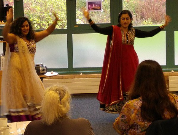Bollywood dancers at the Diwali Celebration
