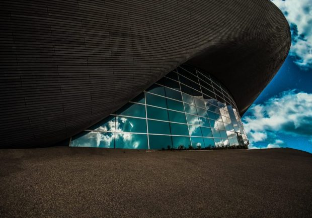 The Aquatics Centre at the Queen Elizabeth Olympic Park.