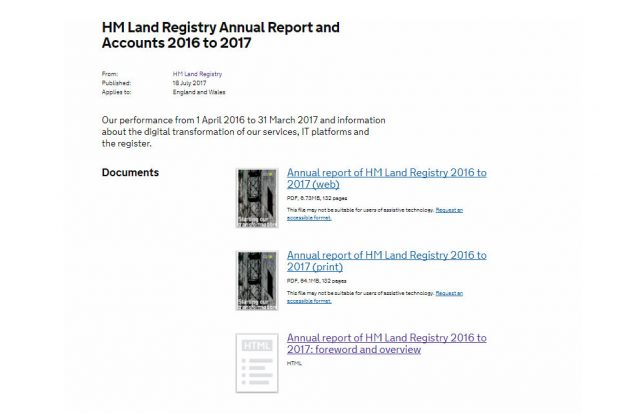 Annual report web page.