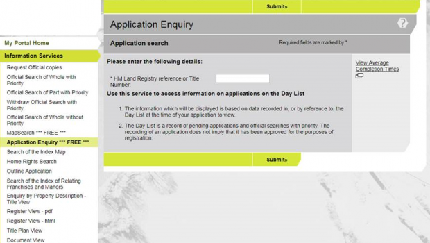 Application Enquiry Service