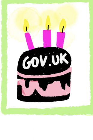 GOV.UK birthday cake