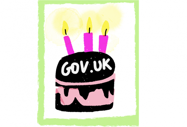 GOV.UK birthday cake.