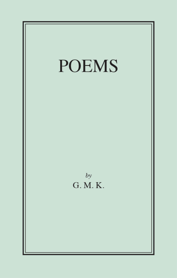 Cover of Poems by GMK