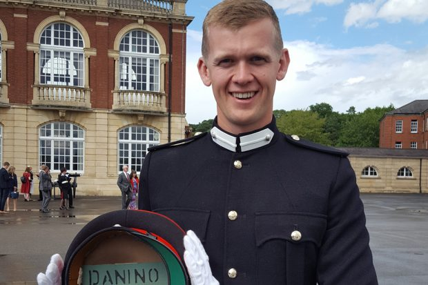 Dirk Danino-Forsyth at Sandhurst