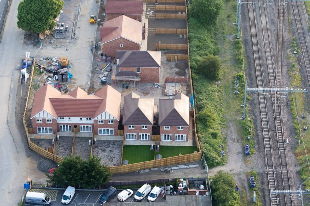 A housing estate being developed