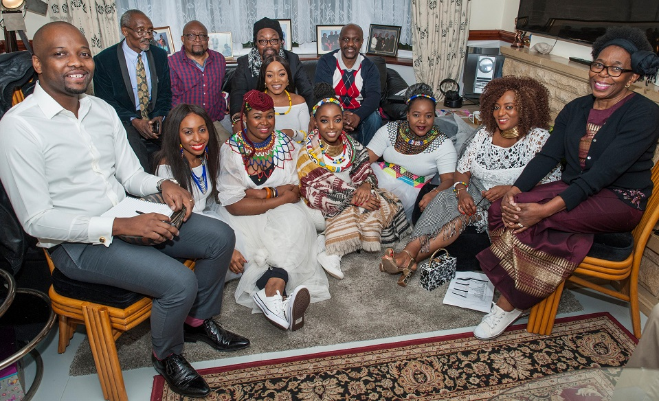 Nonsi Martins and her family at her traditional Zimbabwean wedding