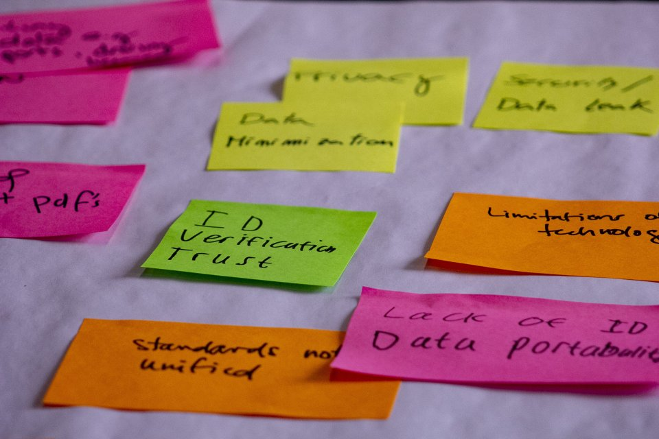 Post it notes from the digital hackathon