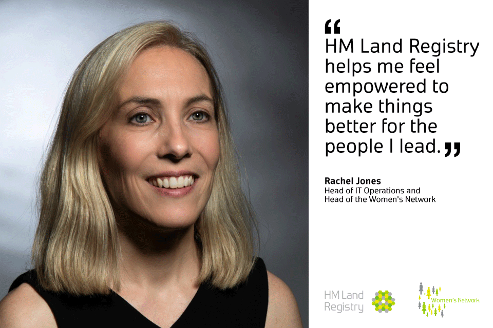 Rachel Jones with quote about how HM Land Registry empowers her.