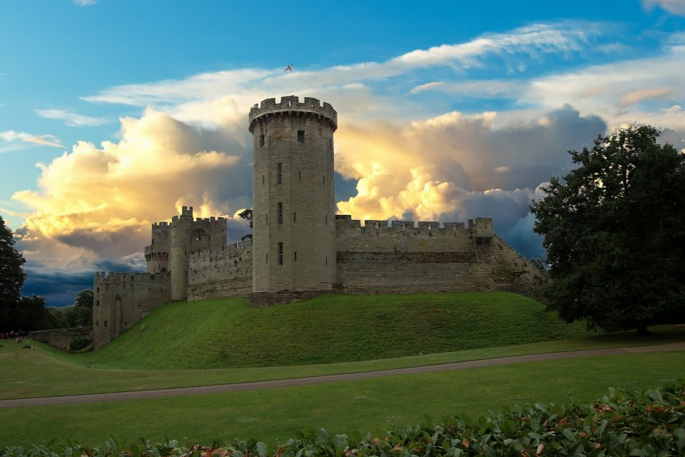 Warwick Castle, a landmark in the Warwick District Council area