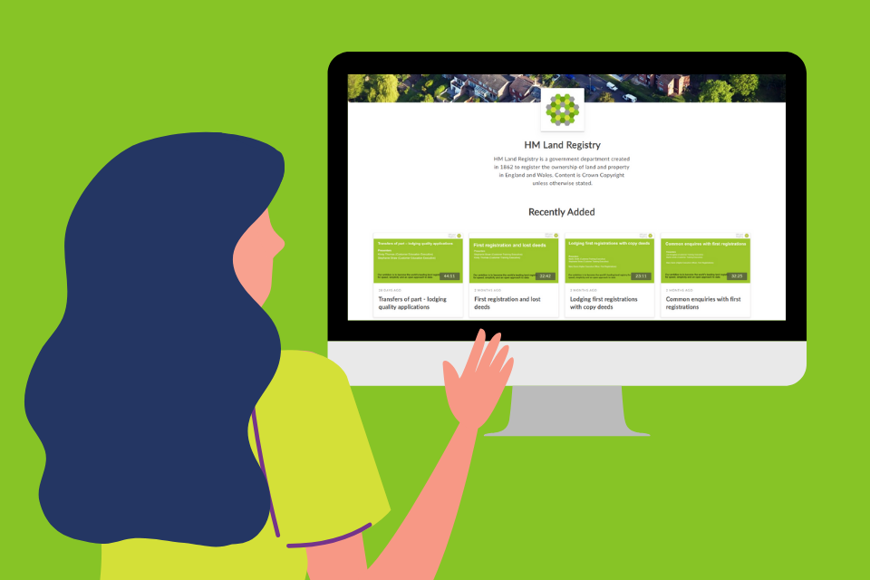 Making the Land Registry webinars accessible by default